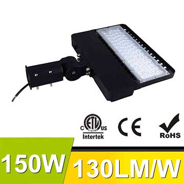 150W LED Shoebox Area Light Fixtures 130Lm/W 19500Lm