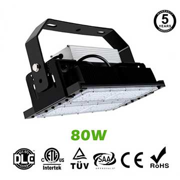 80W LED Flat High Bay Light 11400 Lumen Equivalent 200W HID/Metal Halide Light