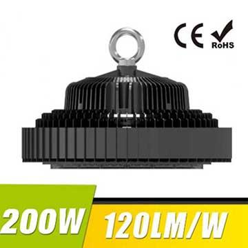 200W UFO LED High Bay Light 120Lm/W 24000 Lumen CE RoHS