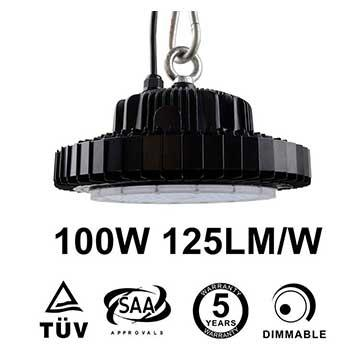 100W UFO LED High Bay 12,500 Lumen 250W HID Equivalent TUV SAA C-tick listed