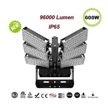 600W LED High Mast Flood Light,160Lm/W Sports Lighting
