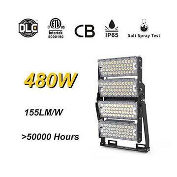 480W 155Lm/W LED Footer Field High Mast Lighting, Rotatable Module,74400 Lumen,IP65,Stadium Light,Sports Lighting,Flood Lighting