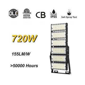 720W-A LED High Mast Light,Rotatable Module,155Lm/W,111,600 Lumen,IP65,Stadium Light,Sports Lighting,Flood Lighting