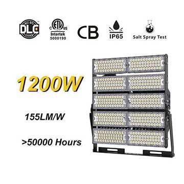 1200W LED High Mast Light,Rotatable Module,155Lm/W,186,000 Lumen,IP65,Stadium Light,Sports Lighting,Flood Lighting