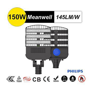 150W LED Street Lamp with adjustable angle, TUV SAA IECEE CB Certification,  Equivalent 400-450W HPS/MH/HQI