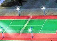 What are the precautions for badminton venue lighting?