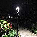 LED post top 60w used In the Garden
