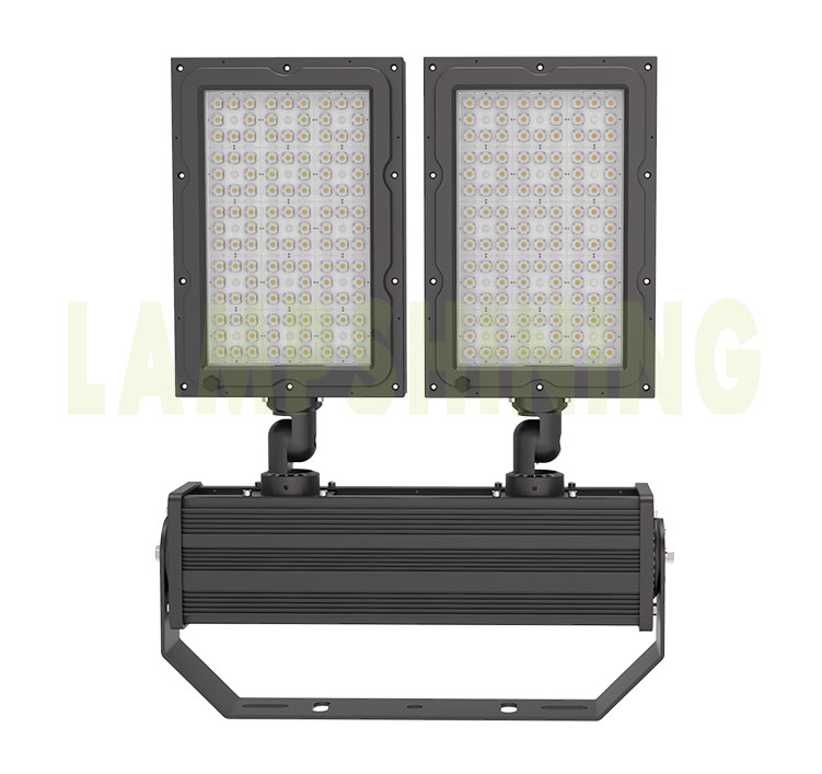 600W 480W LED Stadium Lighting, Fin Heat Sink 155-165LPW Beam Angle Adjustable 5000K