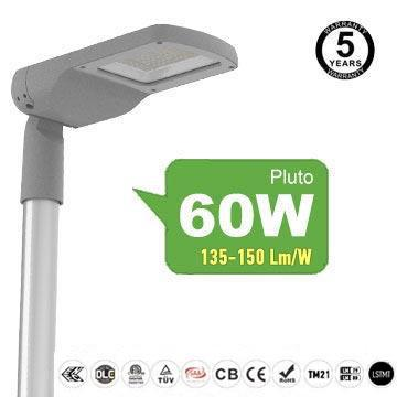 60 watt LED Street Light Fixtures, High efficient 8100LM 5000K IP66 road Lights
