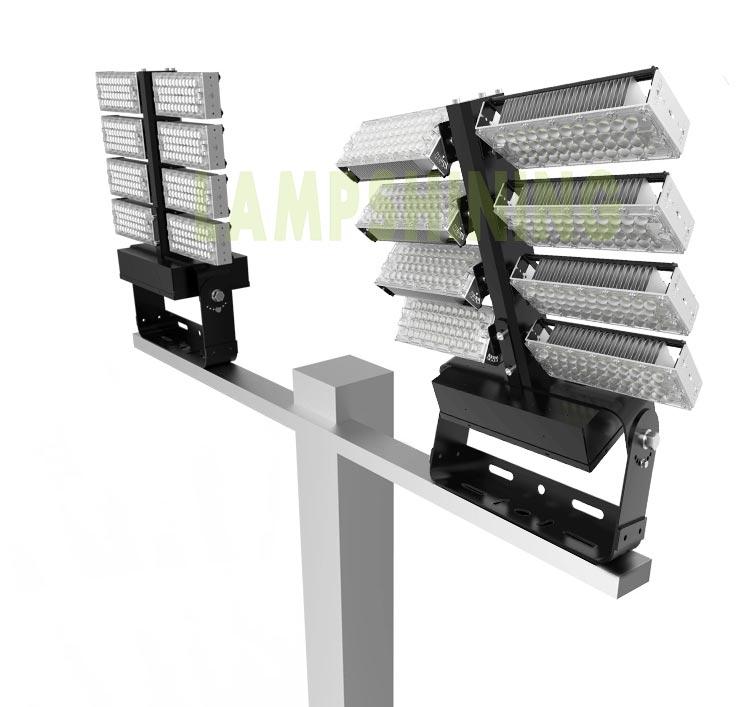 800W LED High Mast Flood Light, Adjustable Module,160Lm/W,128000 Lumen,IP65,Stadium Light,Sports Lighting,Flood Lighting