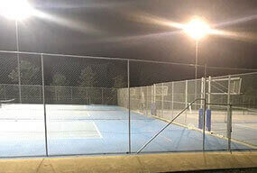 1000W LED High Mast Stadium Light used in tennis courts - Customer Feedback