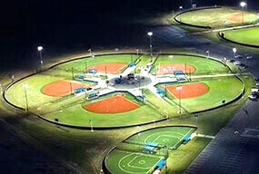 1440W LED High Mast Stadium Light used in Baseball Park - Customer Feedback
