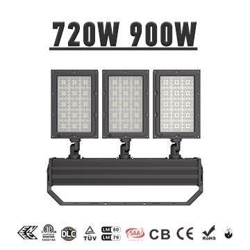 720W 900W Lightweight Indoor outdoor Stadium LED Light, Sport Field Uniform Flood Lighting