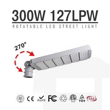 High power 300W LED Street Light Heads, Module Rotatable 270 degree,38000 Lumen DLC Roadway Lighting