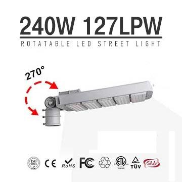 240W Arm Rotatable Meanwell LED Street Lamps 30500LM