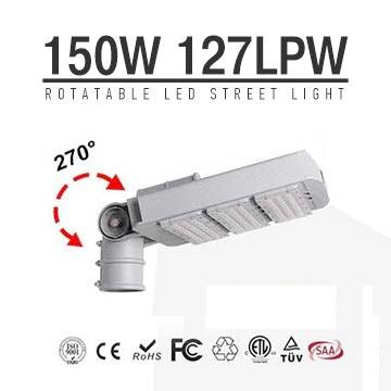 150W DLC TUV LED Street Light Arm Rotatable Meanwell daylight 6kg road Lighting 19000LM