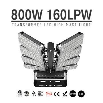 800W LED High Mast Flood Light, Adjustable Module,160Lm/W,128000 Lumen,IP65,Stadium Light,Sports Lighting,Flood Lighting