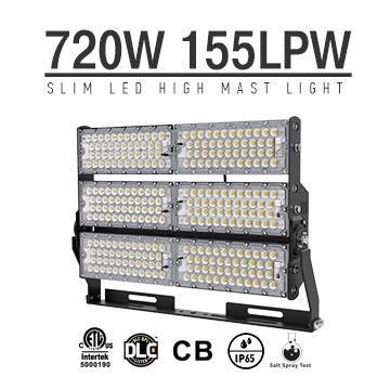 720W-B LED High Mast Light,Rotatable Module,155Lm/W,111,600 Lumen,IP65,Stadium Light,Sports Lighting,Flood Lighting