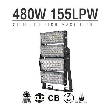 480W 155Lm/W LED Football pitch High Mast Lighting, Rotatable Module,74400 Lumen,IP65,Stadium Light,Sports Lighting,Flood Lighting