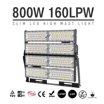 800W TUV SAA Industrial, Wharfs LED High Mast Light for sale