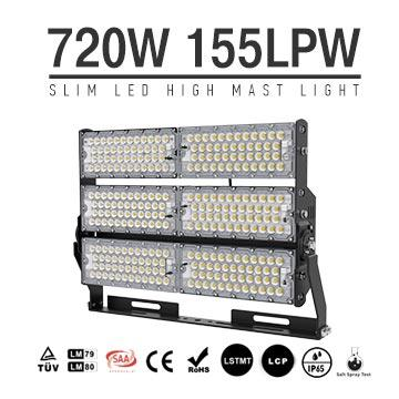 720W LED High Mast Light - Softball,Basketball,Field Flood Lighting