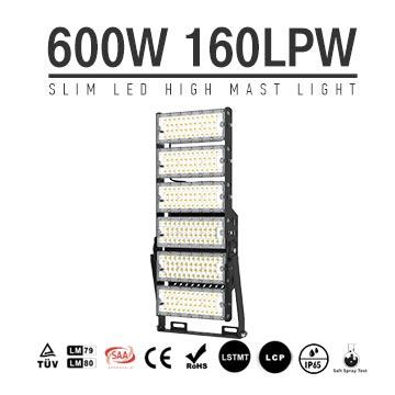 600W-A TUV SAA LED High Mast Light,Rotatable Module,160Lm/W,96,000 Lumen,IP65,Stadium Light,Sports Lighting,Flood Lighting