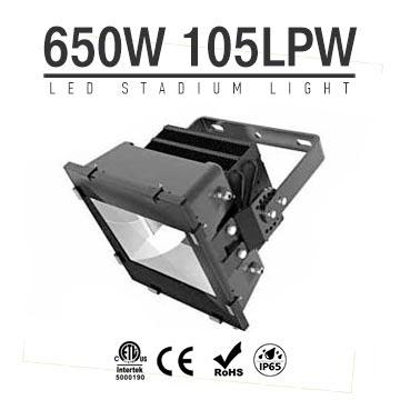 650W LED Stadium Light,High Mast Light,105Lm/W,68250LM,IP66 Waterproof