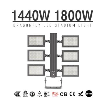 1440W 1800W Football Field LED Flood Lighting - Best High Power Sport Stadium Light fixtures - Equivalent to 3500-4000W HPS MH