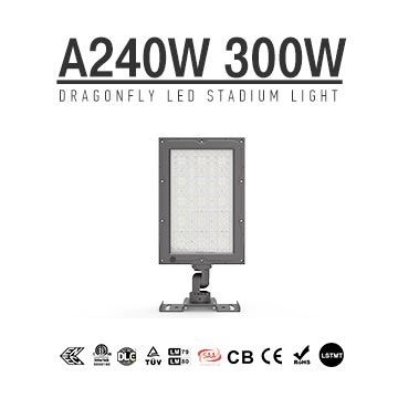 240W 300W LED Sports Field Security Light 300W-Philips Chip IP66 Aluminum Flood Luminaire