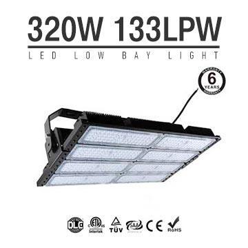320W LED Flat High Bay Light 42500 Lumen Equivalent 750W HID/Metal Halide Light