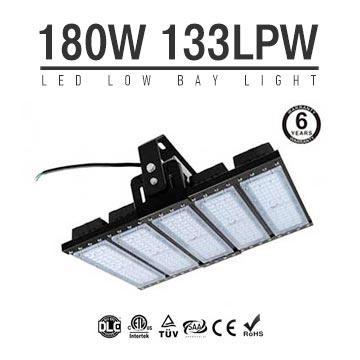 180W LED Flat High Bay Light 24000 Lumen Equivalent 450W HID/Metal Halide Light