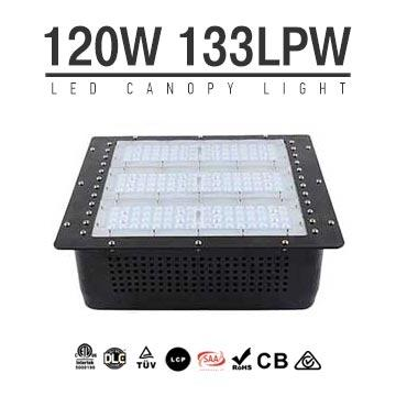 120W Gas Station LED Canopy Luminaire,16000 LM