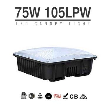75W LED Canopy Light Gas Station Lighting,105LM/W,7900LM,IP65 Waterproof