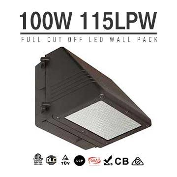 100W Full Cut-off LED Wall Pack Lights,,11500 Lumens,IP65 waterproof