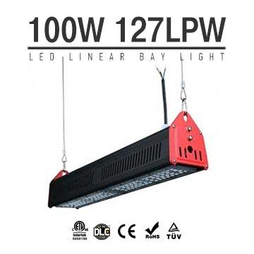 100W LED Linear High Bay Light 12700Lm CE RoHS TUV ETL DLC