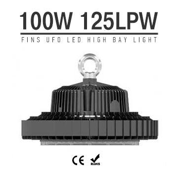 100W UFO LED High Bay Light 125Lm/W 12500 Lumen CE RoHS