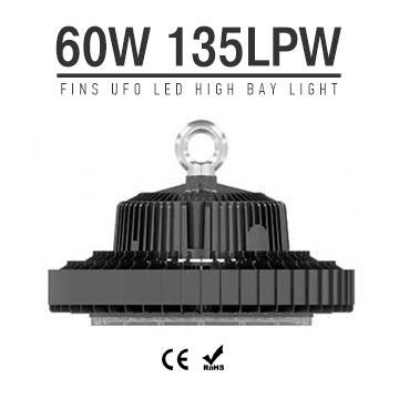 60W UFO LED High Bay Light 135Lm/W 8100 Lumen CE RoHS listed