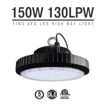 150W UFO LED High Bay Light 130Lm/W 19500 Lumen ETL cETL DLC listed