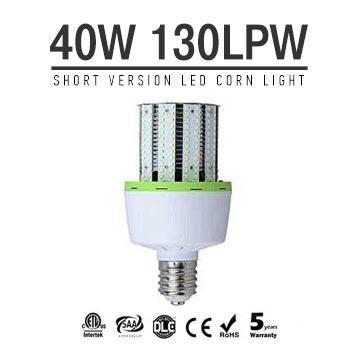 40W Short Version LED Corn Bulbs 5200Lm Equal 150W HID