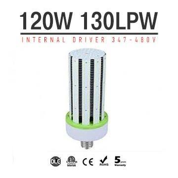 120W LED Corn Bulbs AC 347V 480V 15600Lm 130Lm/W Equal 450W HID