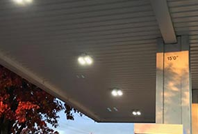 100W LED Canopy Light for Gas Station in USA - Customer Feedback