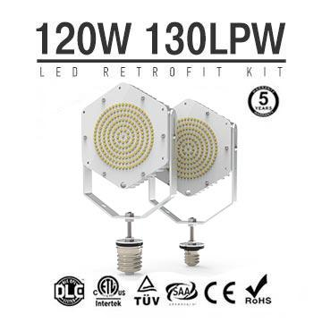 120W LED Retrofit Kits for 400W Metal Halide Fixtures 15,600Lm Parking Lot Lighting Retrofit
