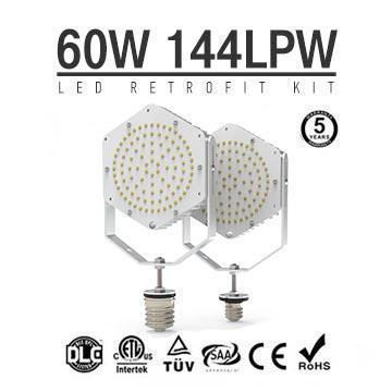 60W Shoebox Parking lot Light LED Retrofit, E40 E39 Base LED Retrofit Kit Light
