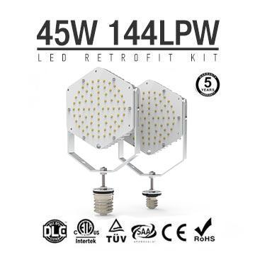 45W LED Retrofit Kits for 125W Metal Halide Fixtures 6,480Lm Parking Lot Lighting Retrofit