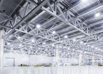 What are the benefits of using LED lighting in industry?