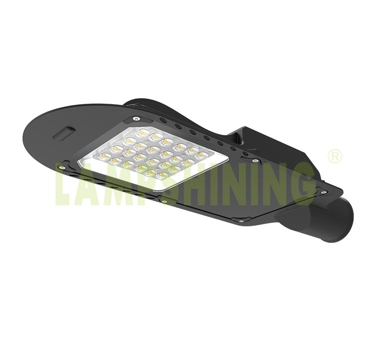 LED Street Light Low power high lumens 40W Aluminum Cool White 6000K, with dusk to dawn sensor