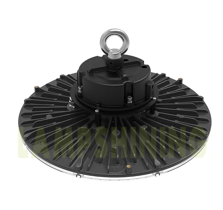 100W UFO LED High Bay Light, Industrial Warehouse Hanging Pendant Light With Induction Sensor
