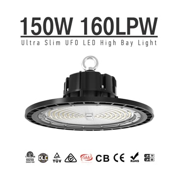 Best LED High Bay Lights fixtures 150W, China No-Flicker warehouse, factory Lighting