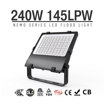 Pole Mounted LED Flood Light, 145Lm/w DLC adjustable IP66 LED Pole Flood Light Heads