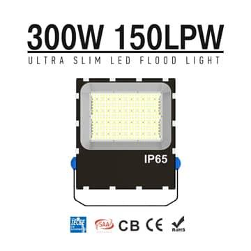 300W LED Flood Light Dimmable 5700K Daylight IP66 Waterproof Area Lighting - Equivalent to 500w metal halide